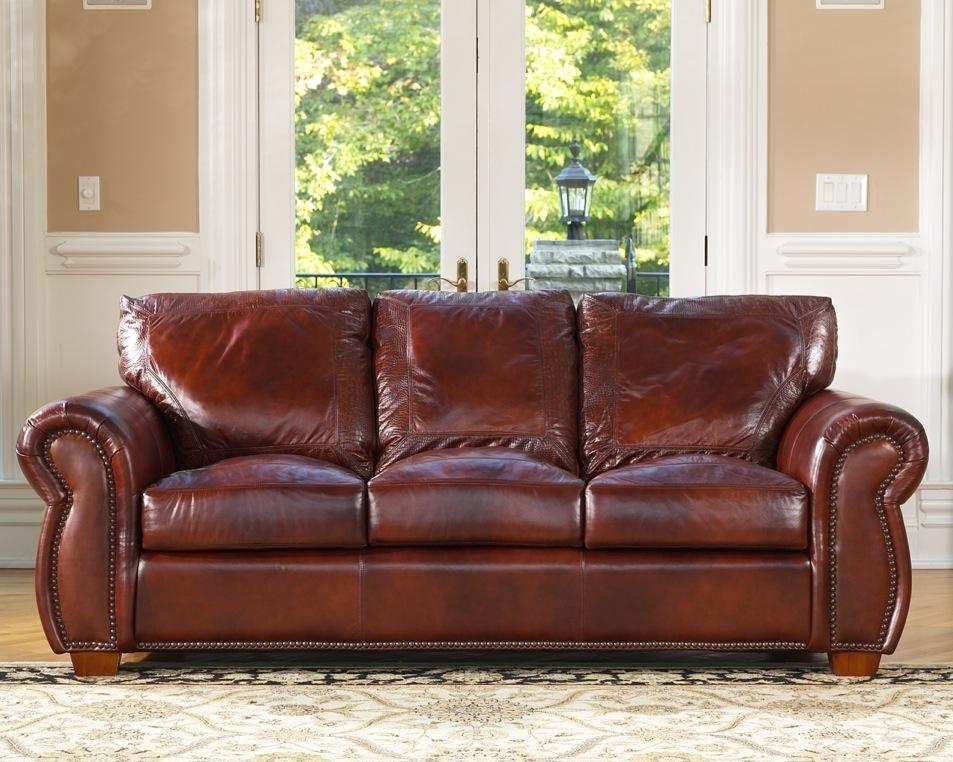Massimo Leather Sofa at LeatherGroups.com