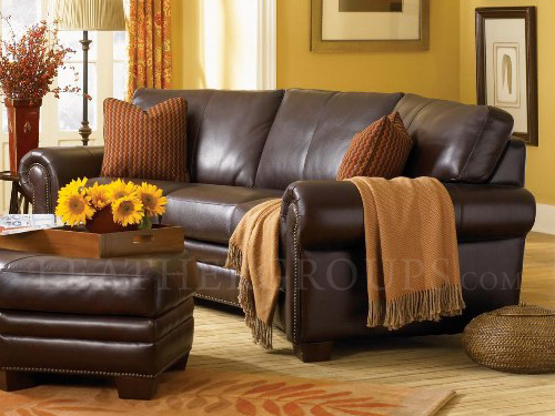borghese leather sofa at