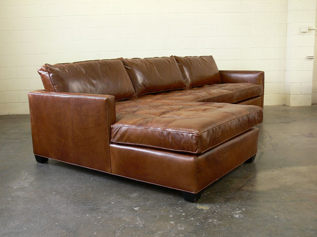 Arizona Leather Sofa Chaise Sectional With Matching