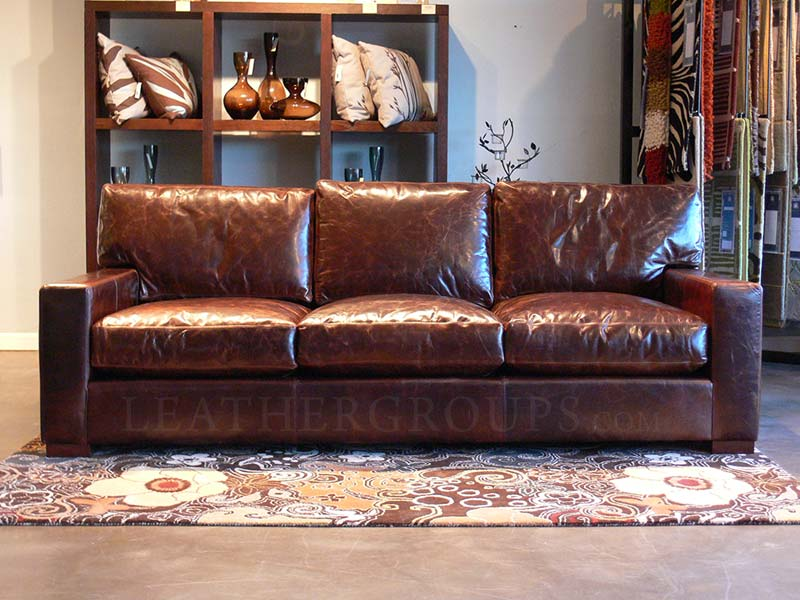 Braxton Leather Sofa in Brompton Cocoa