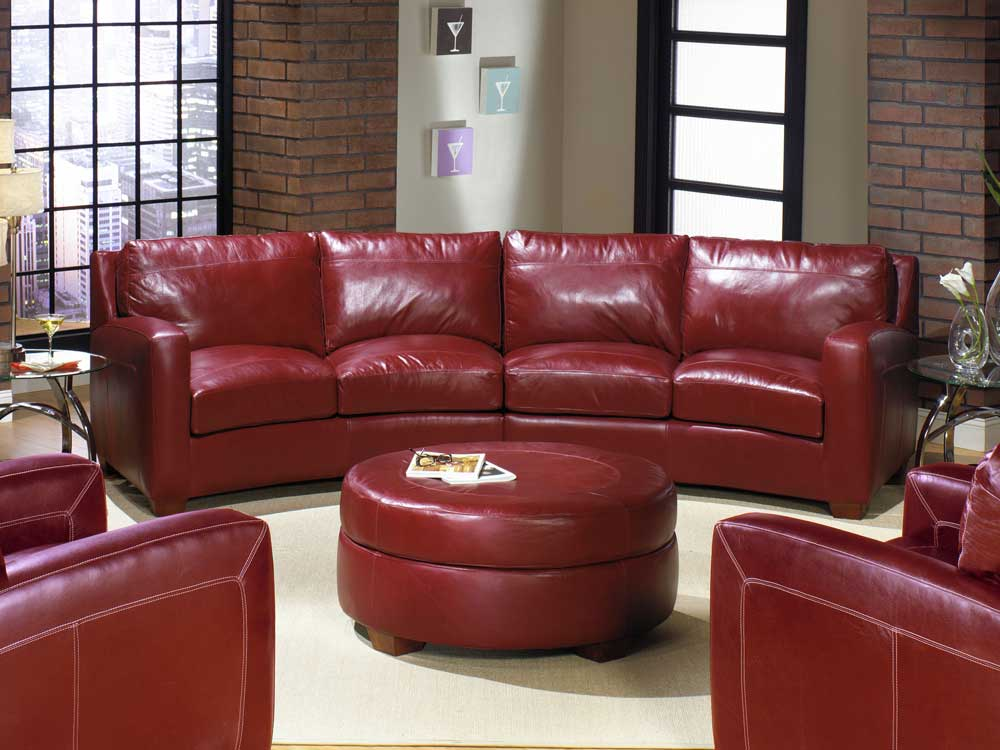 Seattle leather sectional sofa 100 top grain leather for Sectional sofas 100 leather