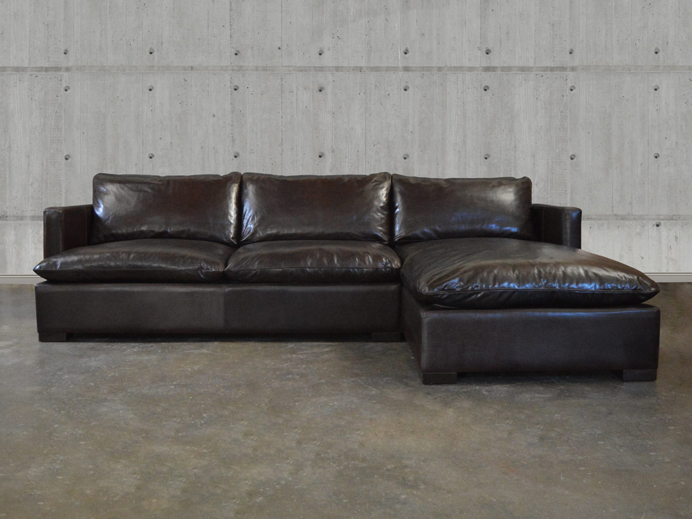 Reno Leather Sectional Sofa With Chaise Top Grain