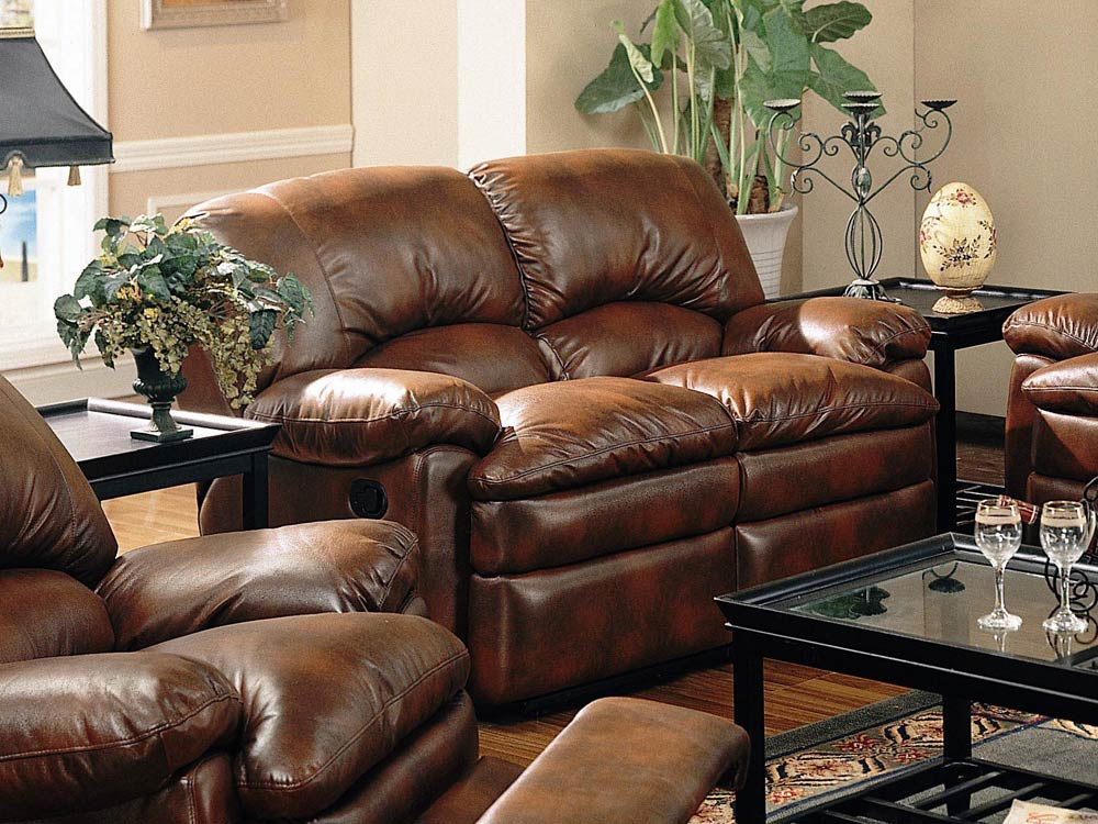 Walter Reclining Leather Loveseat By Coaster 600332