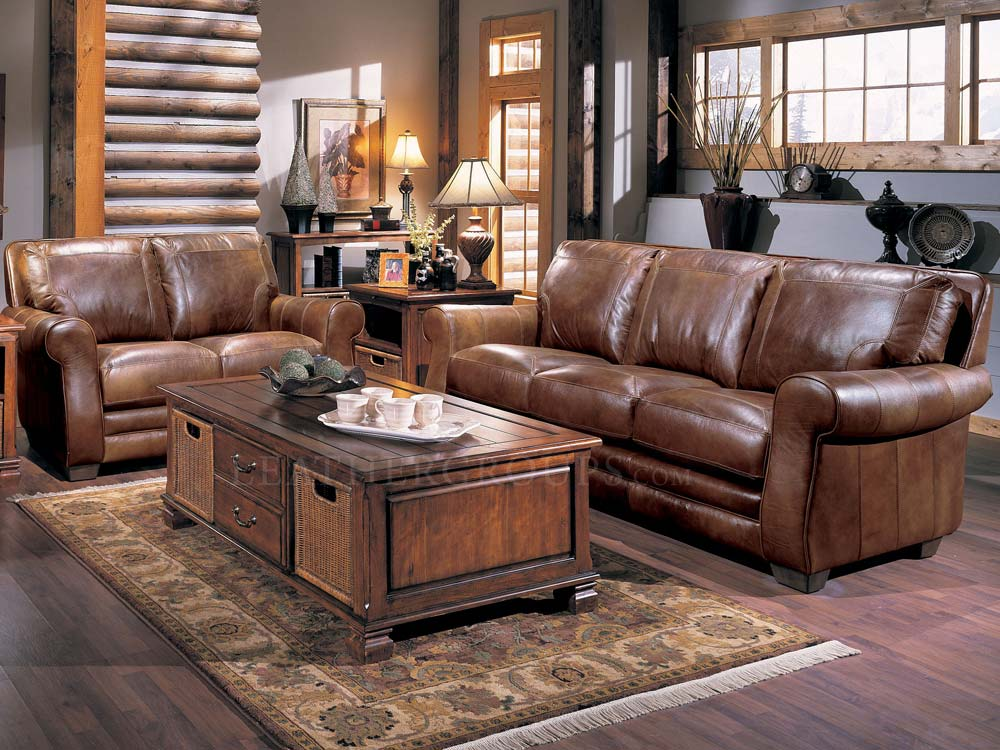 Bowden leather furniture set by lane furniture 548 for Living room group sets
