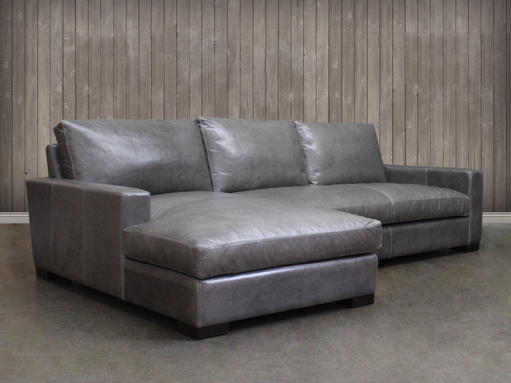 Braxton Leather Sofa Chaise Sectional