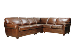 Andrew Leather Sectional Sofa by Luke Leather