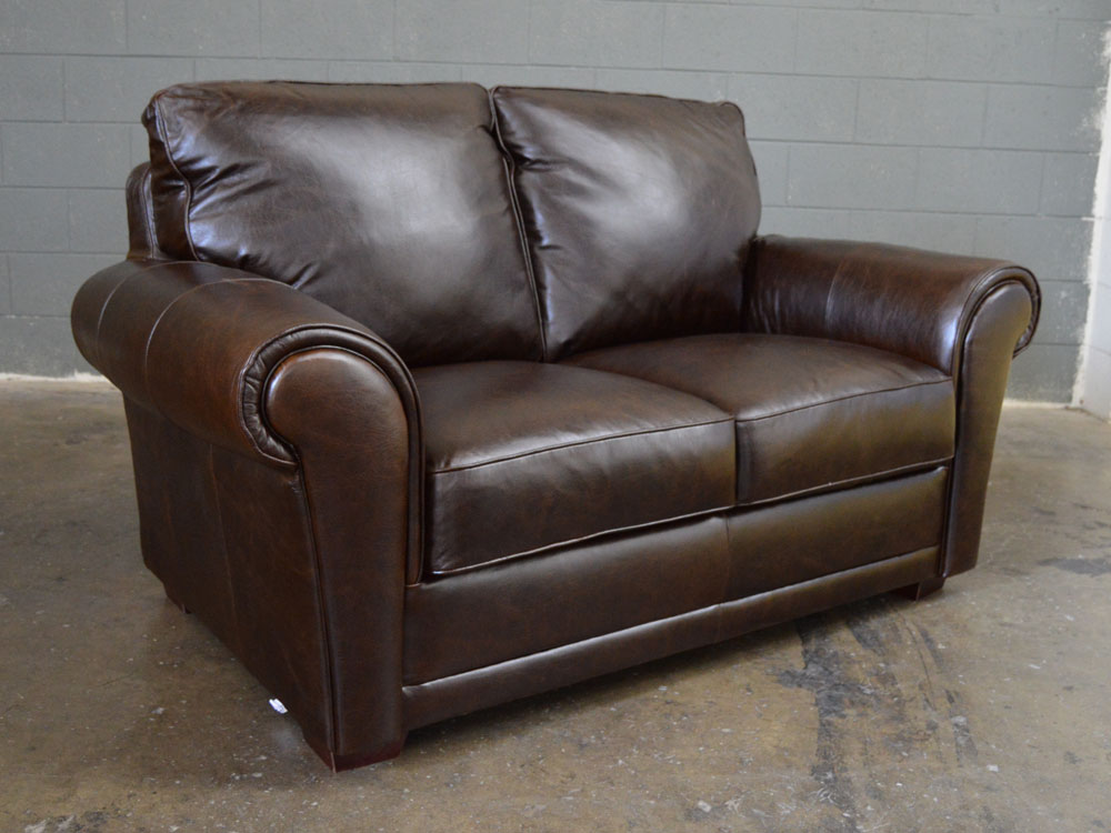 Mark Leather Loveseat by Luke Leather - Clearance Piece