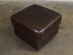 Mark Leather Ottoman by Luke Leather - Clearance Piece
