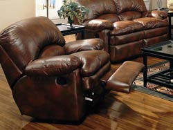 Walter Leather Rocker Recliner Chair by Coaster - 600333