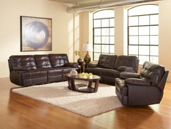 Dalton Reclining Leather Furniture Set by Leather Italia