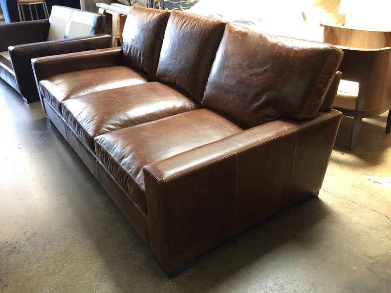 Braxton Leather Sofa in 3 over 3 seat configuration
