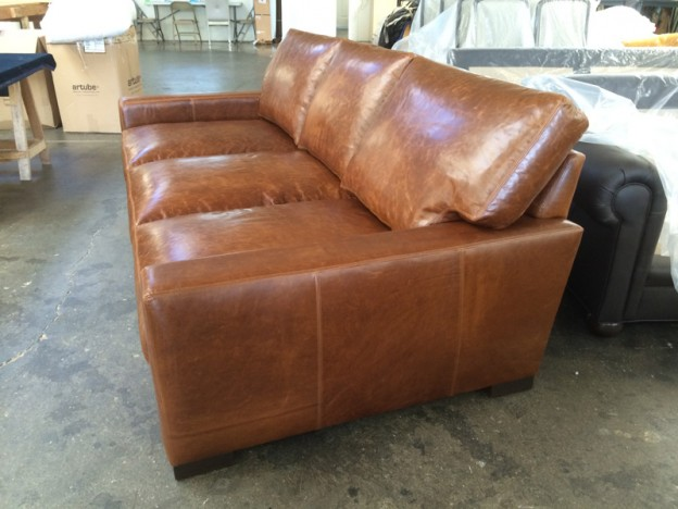 Braxton Leather Sofa Custom Dimensions 98 X 48