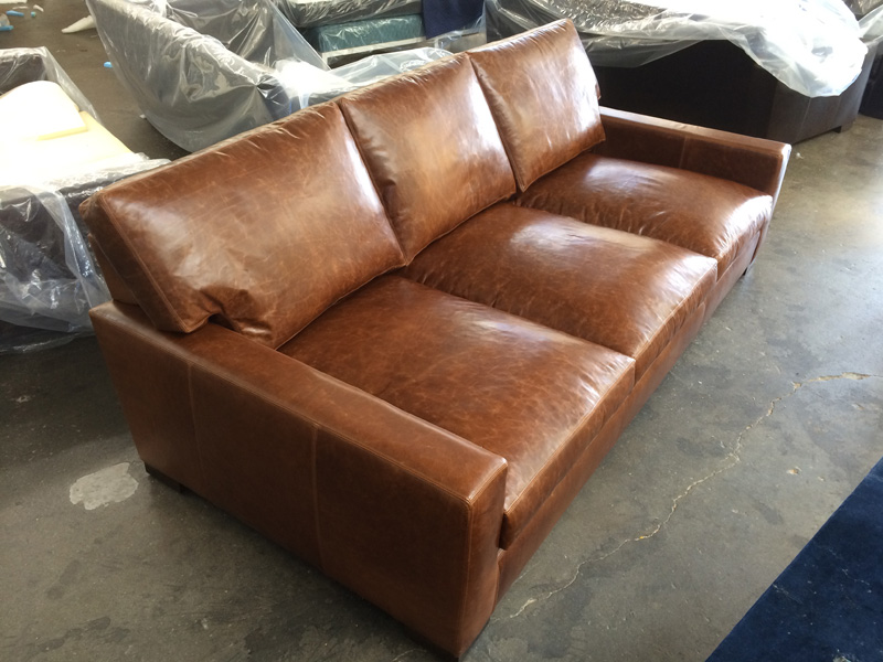 Super Deep Custom Braxton Leather Sofa
