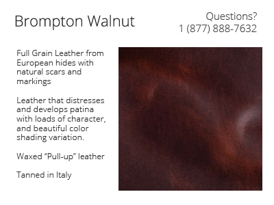 Italian Brompton Walnut Leather Details