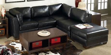 Lane Leather Sectional Sofas