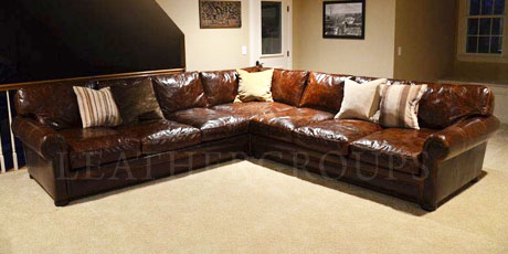 Langston Leather Sectional Sofas : extra deep sectional sofas - Sectionals, Sofas & Couches