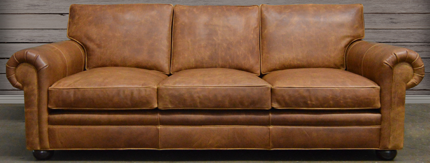 Beau Leather Sofa: Full Grain And Top Grain Leather At.