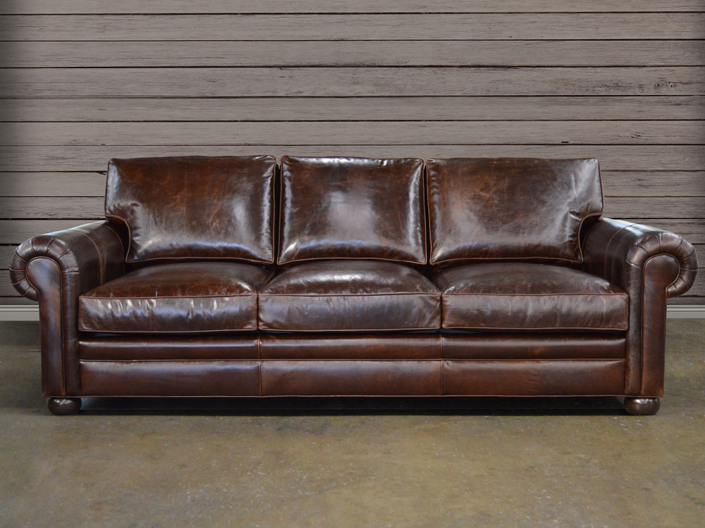 Langston Leather Sofa Shown In Italian Brompton Cocoa