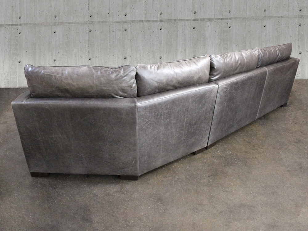 Reno Leather Sectional Sofa With Cuddler Leather