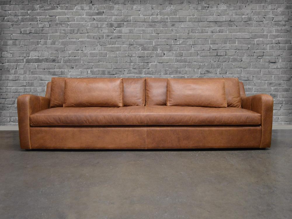 Julien Slope Arm Leather Sofa