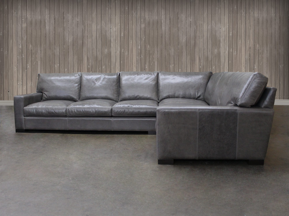 Braxton Leather Quot L Quot Sectional Sofa Leather Sectional