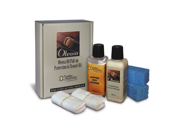 Leather Master Oleosa Revitalizer and Cleaner Kit - Oiled Pullup Leather