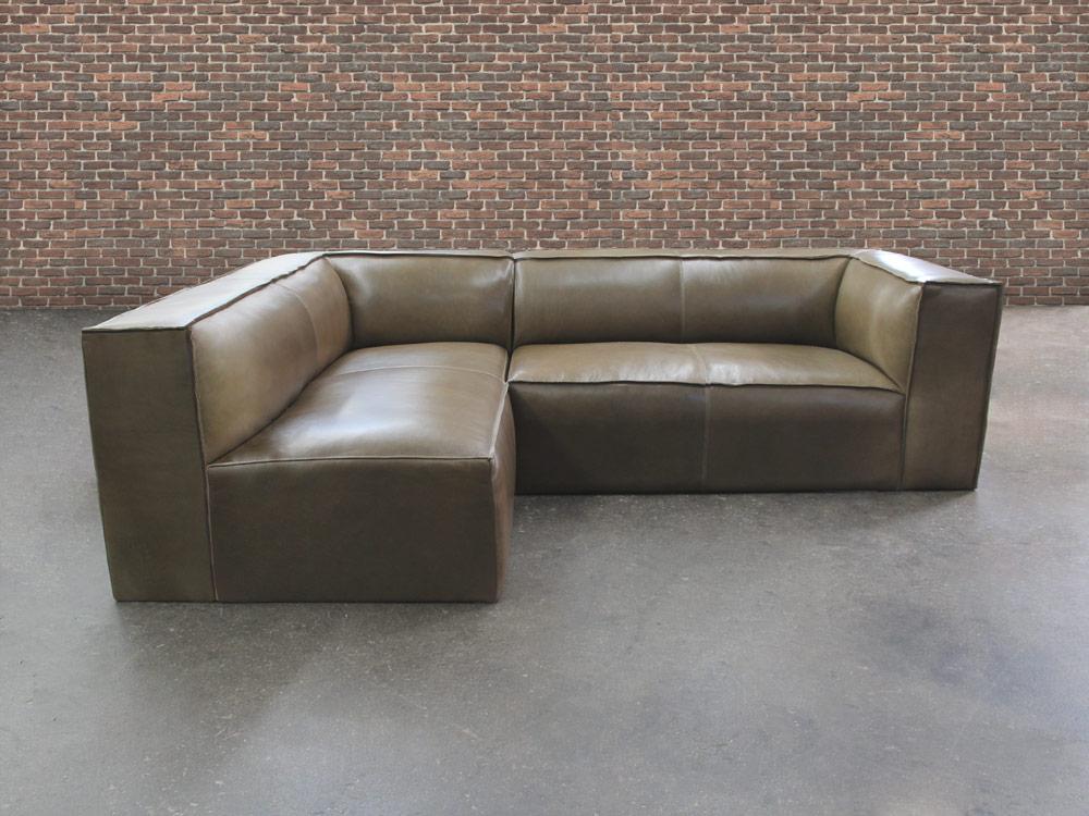 Bonham Leather Sofa Chaise Sectional