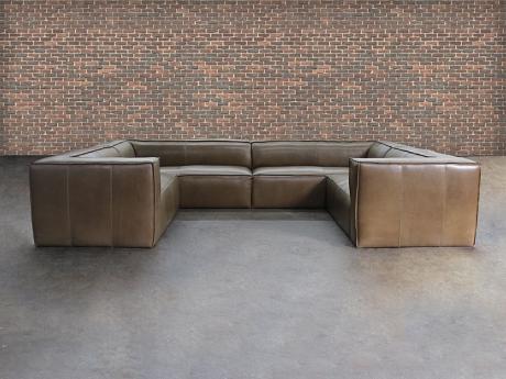 Bonham Leather U-Sofa Sectional