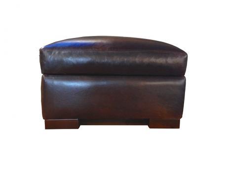Braxton Leather Ottoman