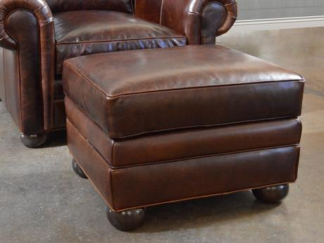 Langston Leather Ottoman