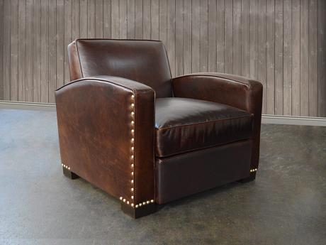 Atlas Leather Chair in Brompton Cocoa