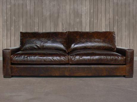 The Braxton Twin Cushion Leather Sofa
