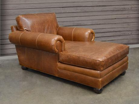 Langston Leather Chaise