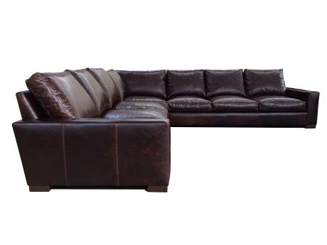 "Braxton Leather ""Grand Corner"" Sectional Sofa"