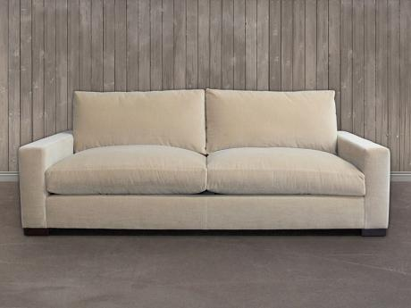 The Braxton Twin Cushion Sofa in Fabric