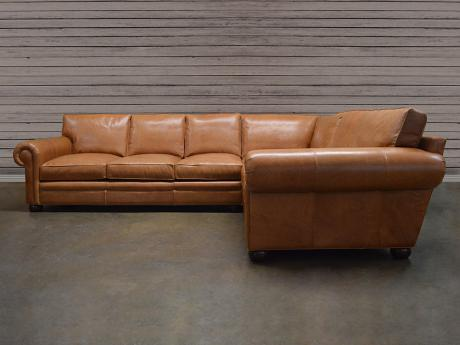 "Langston Leather ""L"" Sectional Sofa"