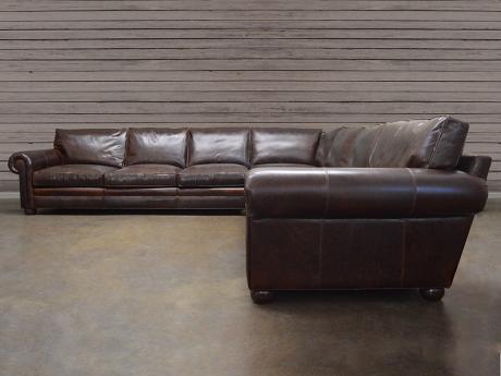 "Langston Leather ""Grand Corner"" Sectional Sofa"
