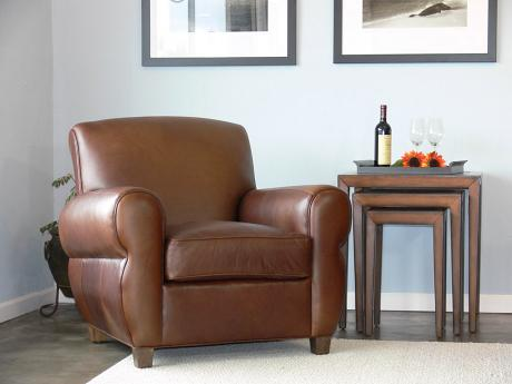 Midtown Leather Club Chair