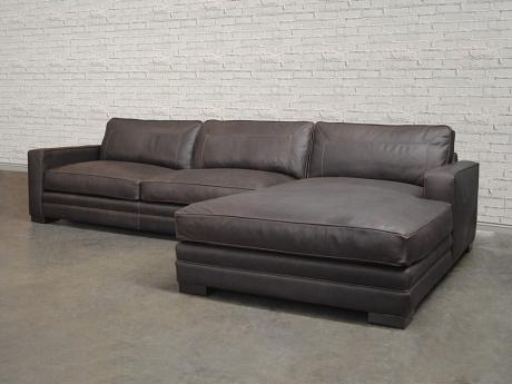 Las Vegas Leather Sectional Sofa - Top Grain, Aniline Leather
