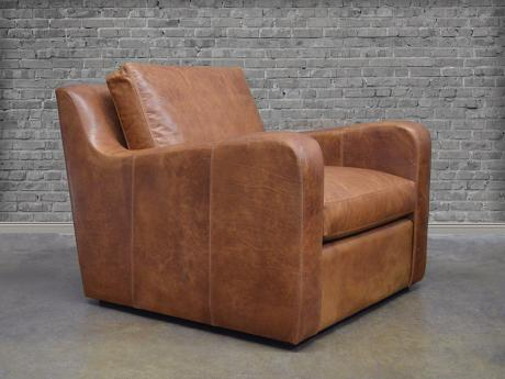 Julien Slope Arm Leather Chair
