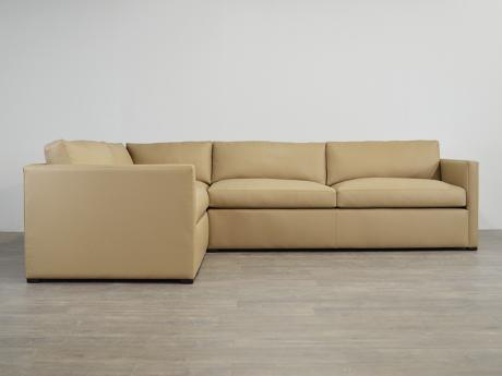 "Oscar Leather ""L"" Sectional Sofa"
