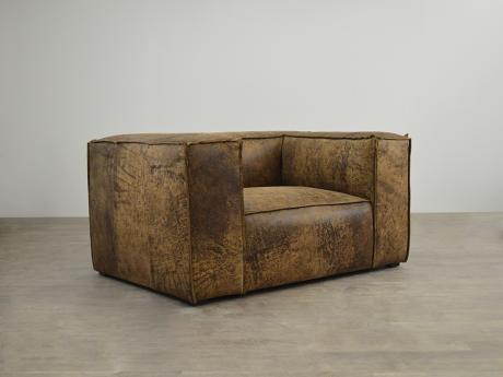 Bonham Leather Chair in Italian Ragtime Mocha Destroyed Leather - ONE ONLY