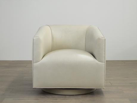 Entro Shelter Arm Leather Swivel Chair