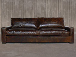 The Braxton Twin Cushion Leather Sofa
