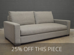 Braxton Fabric Sofa in Sand Granite - One Only