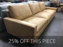 Braxton Leather Sofa in Berkshire Camel - One Only