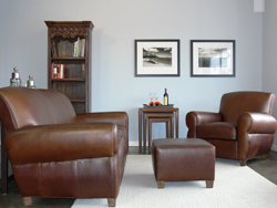 Midtown Leather Sofa & Club Chair Set