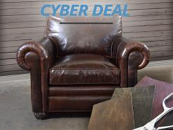 Langston Leather Chair - Cyber Deal