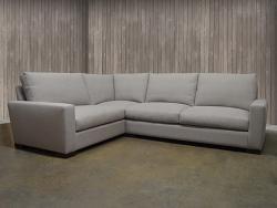 """Braxton Fabric Mini """"L"""" Sectional Sofa"""