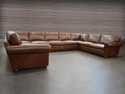 "Langston Leather ""U"" Sectional Sofa"